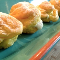 Raspberry Cream Puffs -- A Rainy Day Recipe