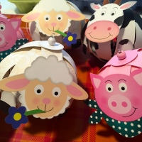 Farmyard Birthday Plans -- Egg Carton Thank You Gifts
