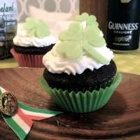 The gift of the Irish gab -- chocolate stout cupcakes